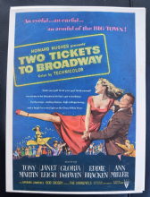 Two Tickets to Broadway (1951) - Janet Leigh | Vintage Trade Ad